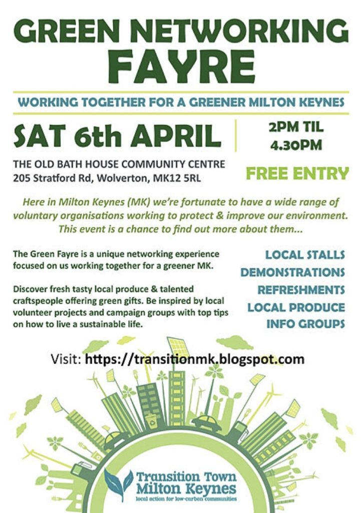 The Green Networking Fayre @ The Old Bath House Community Centre