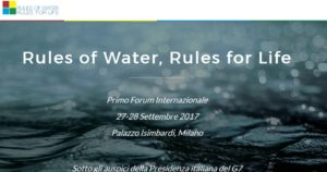 Rules of Water, Rules for Life - First International Forum