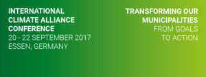 2017 International Climate Alliance Conference @ Essen | North Rhine-Westphalia | Germany