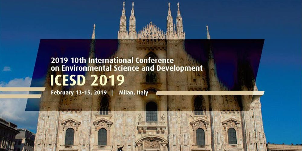 International Conference on Environmental Science and Development